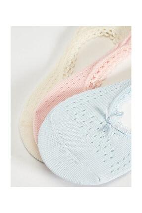 LC Waikiki Kadın Bebek Mavi Babet Çorap 2