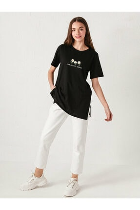 LC Waikiki Kadın Yeni Siyah Tişört 3