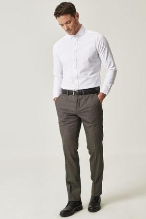 Altınyıldız Classics Erkek Kahverengi Slim Fit Desenli Pantolon 0