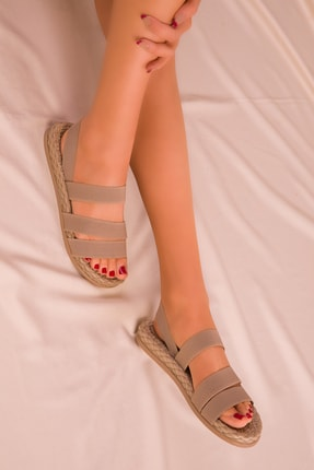 Soho Exclusive Vizon Kadın Sandalet 15098 0