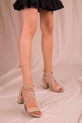 Soho Exclusive Ten Süet Kadın Klasik Topuklu Ayakkabı 14670 2