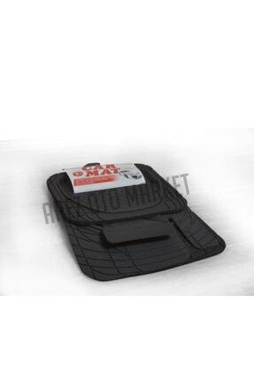 Universal 3d Havuzlu Paspas Siyah 5 Parça Üniversal Tüm Araçlar Için Uyumlu 0