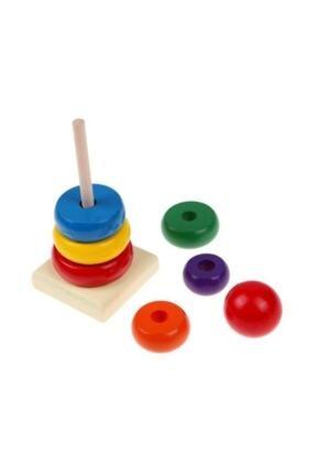Wooden Toys Ahşap Renkli Kule Eğitici Oyuncak 1