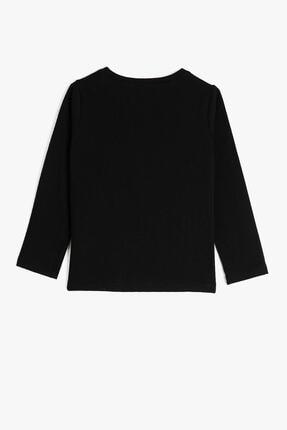 Koton Siyah Kız Çocuk T-Shirt 1