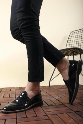 Oksit Jes Püsküllü Erkek Loafer Rugan Ayakkabı 1