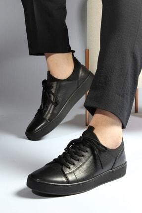 Alba Siyah Hakiki Deri Erkek Ayakkabı 1