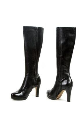 CLARKS Kadın Çizme Deri Şık Rahat Çok Yönlü Siyah Kendira Candy Çizme 2