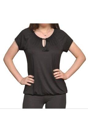 İsmet Tekstil Kadın Siyah Püsküllü Bluz 0