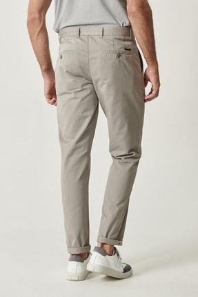Altınyıldız Classics Erkek Açık Gri Kanvas Slim Fit Chino Pantolon 3