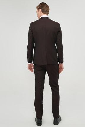 Altınyıldız Classics Erkek Bordo Slim Fit Desenli Nano Takım Elbise 3