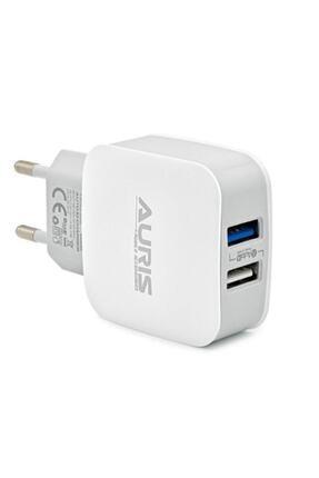 Auris Güvenlisepet 3.4 Amper Hızlı Şarj Başlığı Çift Usb Girişli 17 Watt Hızlı Şarj Başlık 0
