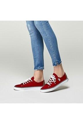 US Polo Assn TOGA 1FX Kırmızı Kadın Havuz Taban Sneaker 100918943 0