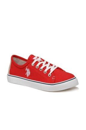 US Polo Assn TOGA 1FX Kırmızı Kadın Havuz Taban Sneaker 100918943 1