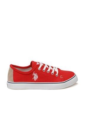 US Polo Assn TOGA 1FX Kırmızı Kadın Havuz Taban Sneaker 100918943 2