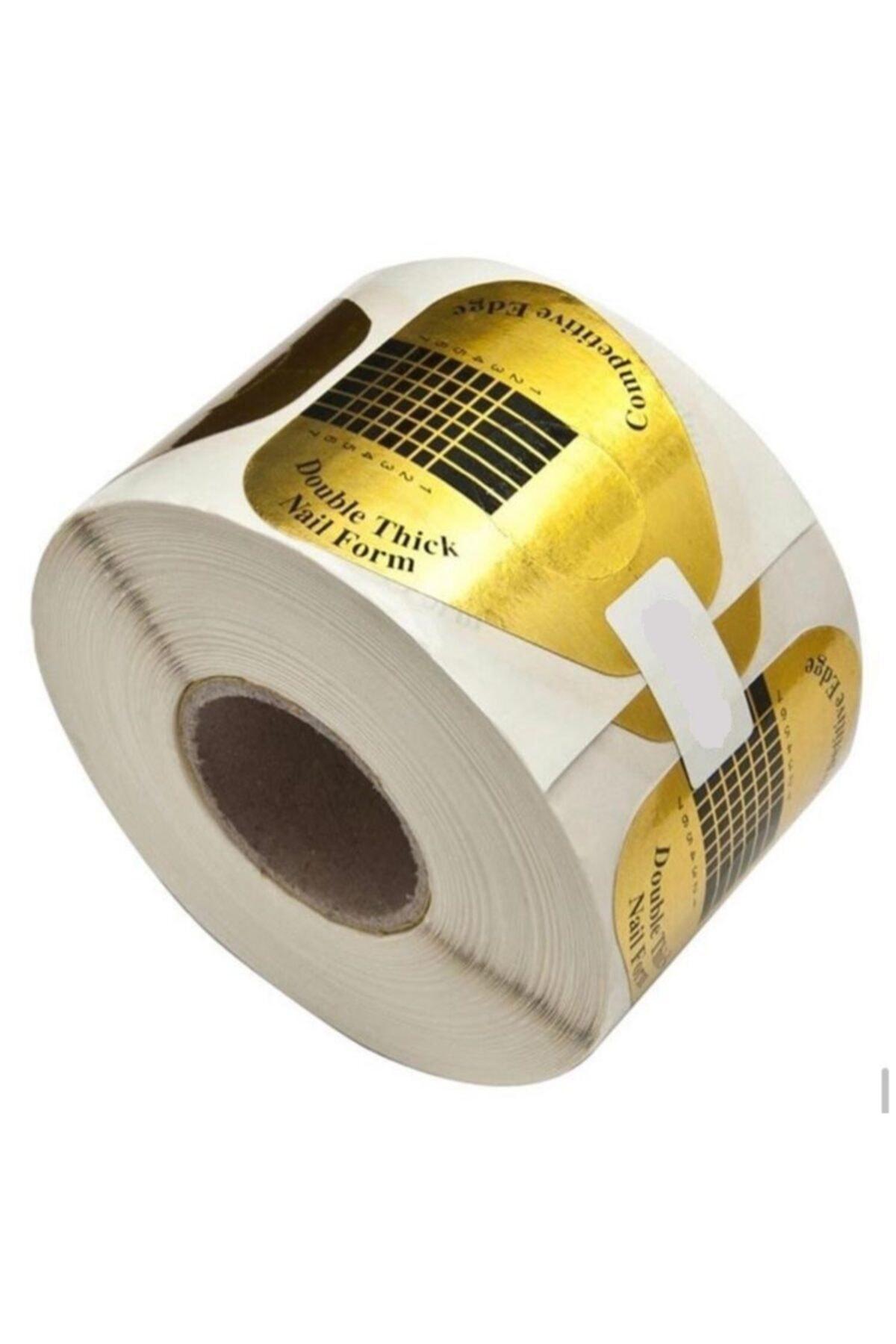 1 Top 100 Adet Protez Tırnak Uzatma Kağıt Şablonu