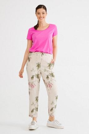 Kadın Emp.Bej Bağlamalı Pantolon resmi