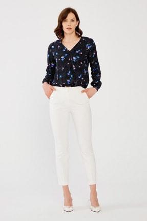 Kadın Kemik Beli Lastikli Pantolon resmi