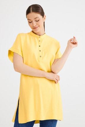 Love My Body Kadın Lime Hakim Yaka Yırtmaçlı Tunik 1