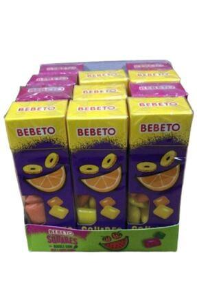 BEBETO Squares Ananas/portakal Aromalı Şeker/ 27 Gr*/* Adet 12 1