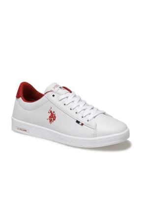 US Polo Assn Kadın Beyaz Kırmızı Franco Dhm Ayakkabı 100548974 0