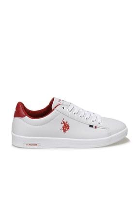 US Polo Assn Kadın Beyaz Kırmızı Franco Dhm Ayakkabı 100548974 1