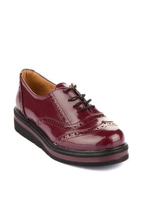 Kadın Bordo Pembe Potin Rugan Ayakkabı ybak-2a-11837