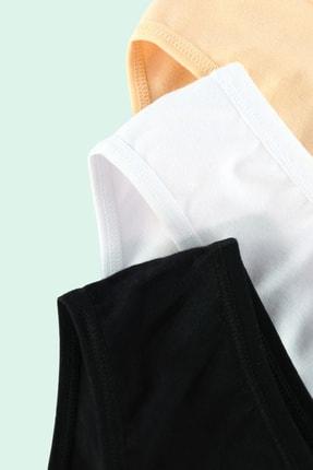 Moodligo Fine Cotton Kadın Basic Slip Külot 6'lı Kutu-2 Siyah 2 Ten 2 Beyaz 2