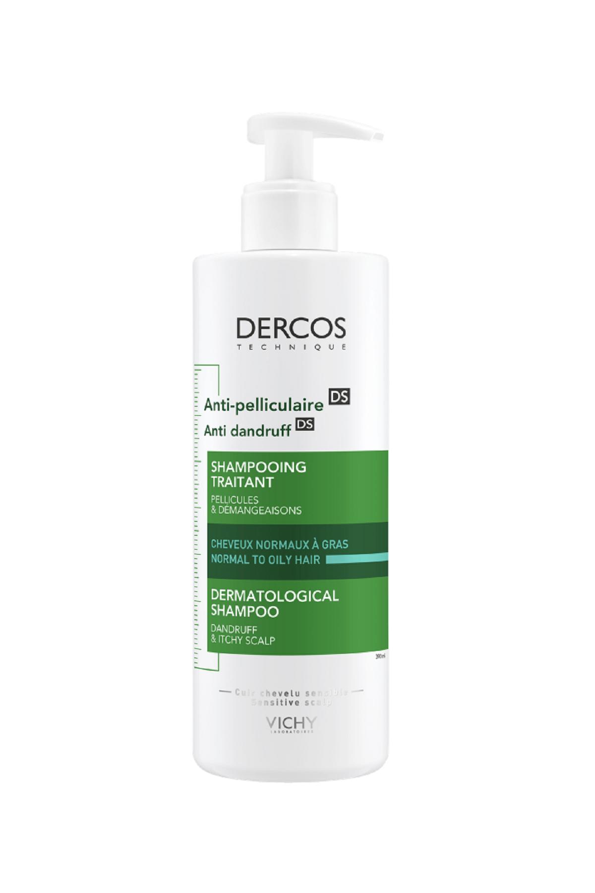 Vichy Dercos Anti-Dandruff Normal ve Yağlı Saçlar İçin Kepeğe Karşı Etkili Bakım Şampuanı 390 ml 0