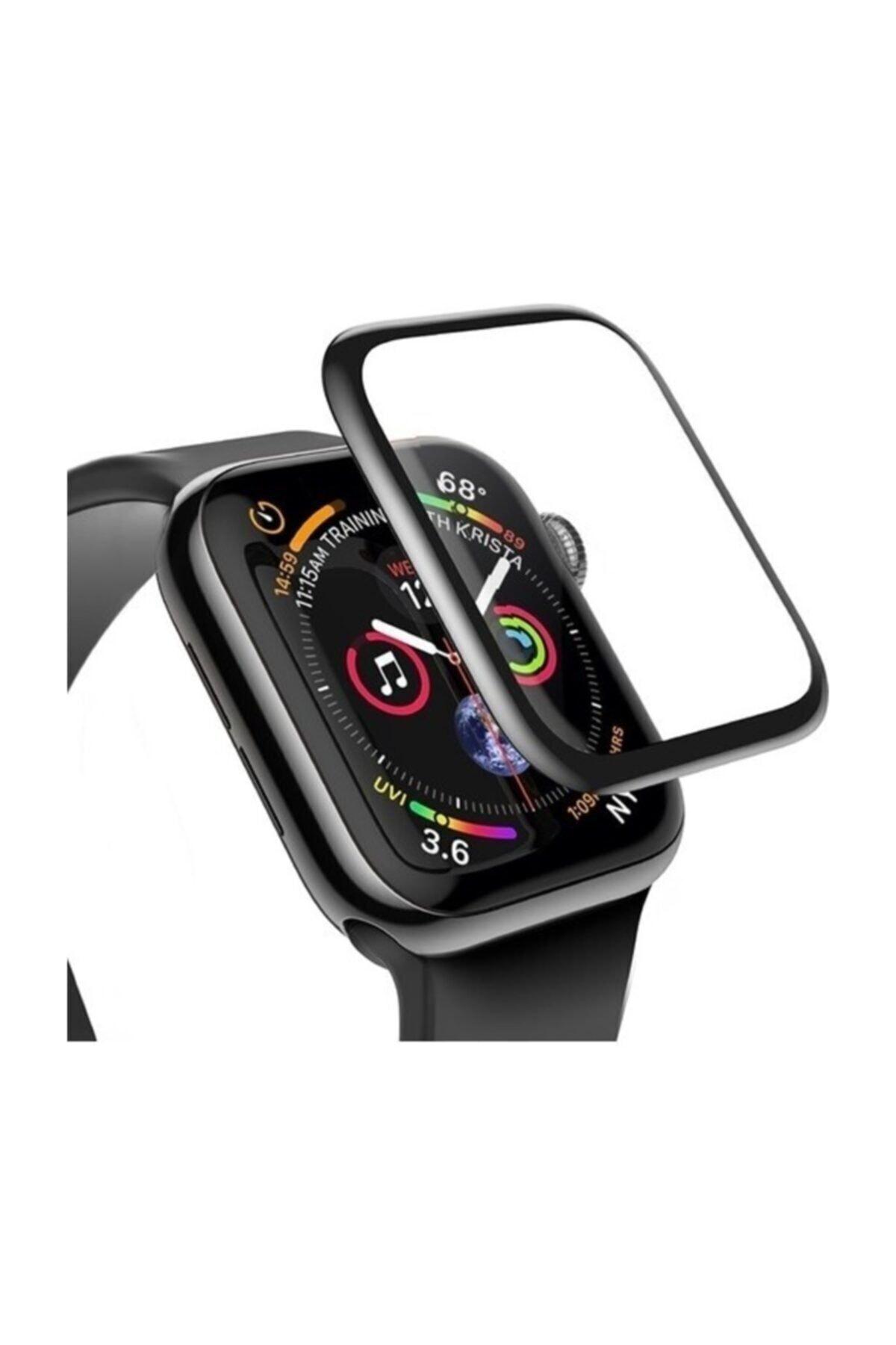 Apple Watch 3 4 5 6 Se 40mm 5d Kavisli Tempered Kırılmaz Cam Koruyucu