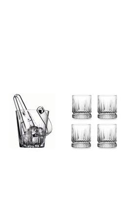 Lüx Viski Seti 4 Elysia Viski Bardağı Ve Buz Kovası buzvsk104