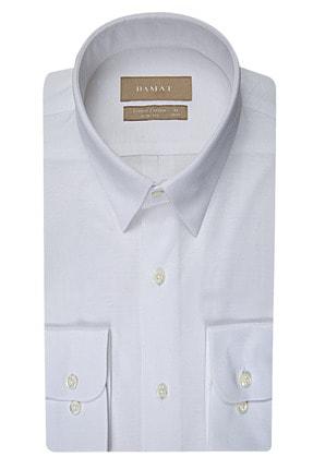 Damat Slim Fit Beyaz Desenli Gomlek 0DF02LP14260