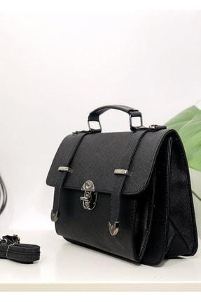 Rimense Kadın Siyah Toka Detaylı Çanta 1