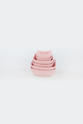 Keramika Açık Pembe Sandal Çerezlik / Sosluk 08-10-12 cm 6 adet 3