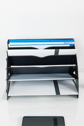 KUK Design Delcia Modern Pratik Ofis Masaüstü Organizer Düzenleyici A4 Evrak Rafı 3
