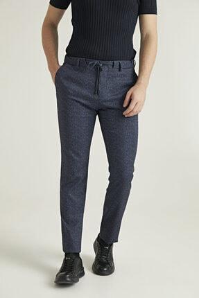 D'S Damat Slim Fit Lacivert Sihirli Kumaş Pantolon 0