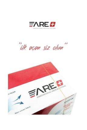 ARE 1 Kutu Beyaz Renk Cerrahi Yüz Maskesi Meltblown Filtreli 1