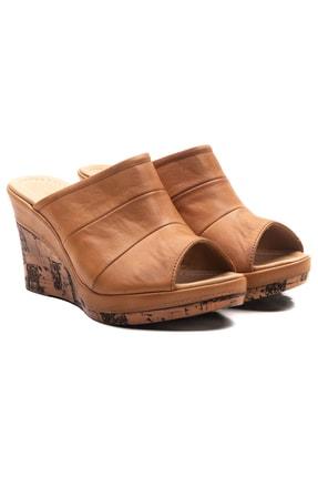 Zeynep Sıradağlı Kadın Dolgu Topuk Sandalet Taba 1
