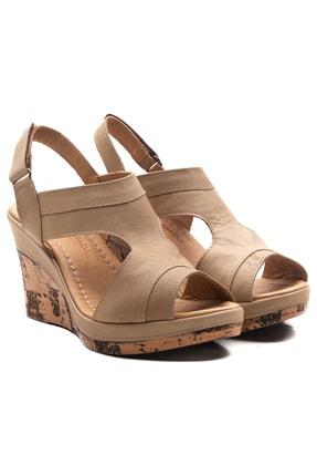 Zeynep Sıradağlı Aditya Kadın Dolgu Topuk Sandalet Kum 1