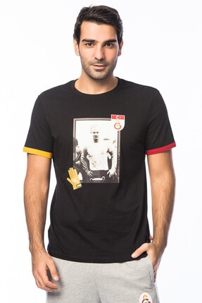 Erkek Siyah Galatasaray T-Shirt Y023-E70447