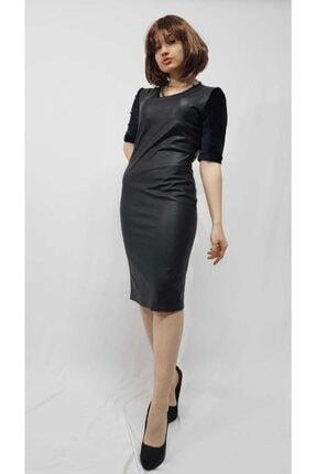 Kadın Deri Elbise ( Imitasyon Deri, Içi Kürklü) deri elbise