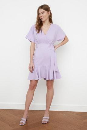 TRENDYOLMİLLA Lila Kuşaklı Elbise TWOSS20EL0944 1