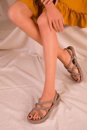 Soho Exclusive Vizon Kadın Sandalet 14737 0