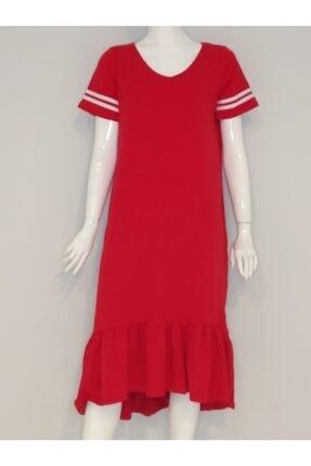 Diz Üstü Kısa Kol Elbise TYC00101163430