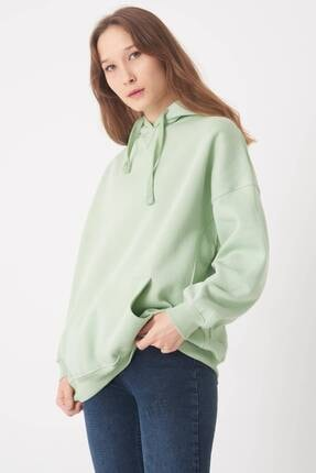 Addax Kadın Mint Kapüşonlu Sweatshirt S0519 - P10V1 Adx-0000014040 1