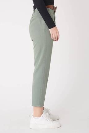 Addax Kadın Çağla Kemerli Pantolon Pn4204 - B6 - A6 - Z2 ADX-0000020952 4