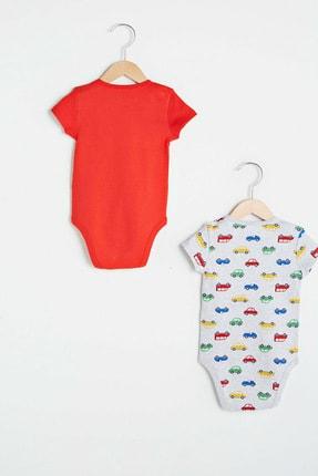 LC Waikiki Erkek Bebek Canlı Kırmızı Hc3 Bebek Body & Zıbın 2