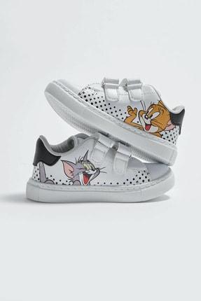 LC Waikiki Tom&Jerry Erkek Bebek Beyaz J5E Sneaker 1