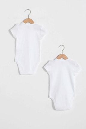 LC Waikiki Erkek Bebek Optik Beyaz Ffb Bebek Body & Zıbın 1