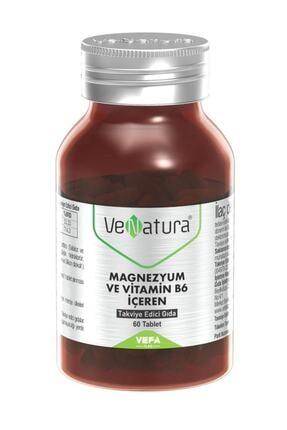 Venatura Magnezyum ve Vitamin B6 Takviye Edici Gıda 60 Tablet 0