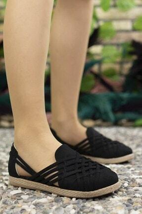 Riccon Kadın Siyah Süet Günlük Ayakkabı 0012or01 2